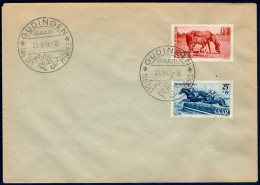 SARRE:  N°253/254 Oblitérés 1°jour Du 25/9/1949 ! - FDC