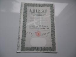 USINOR (75 Francs) - Unclassified