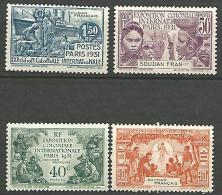 SOUDAN EXPO 1931 N � 89/92 NEUF* TB