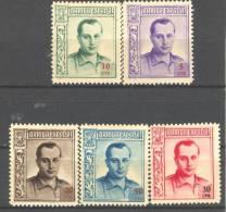 ESBENE14-3827.España,Spain.Espagne.  Beneficencia.J.A. PRIMO DE RIVERA 1937 (Ed  NE 14/8**)sin Fijasellos.MAGNIFICA - 1931-Hoy: 2ª República - ... Juan Carlos I
