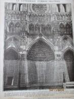 Guerre  14-18  La Cathedrale D Amiens Protégée   Par Des  Sacs De Terre .......grande Photo... - Vieux Papiers