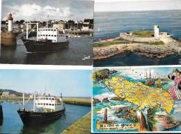 7059 - 56 - Lot De 9 CPSM/CPM Du MORBIHAN : 3 Groix, 2 Ile Aux Moines, 2 Houat, Arz, Glénan - Cartes Postales