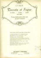 Partition -  J.S. BACH - Toccata Et Fugue (Transcriotion Pour Piano Par Jules STRENS) - Klassik