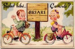 "45 - Cpa Briare Carte A Systeme 10 Vues  - ""Salut Bébe   ça Roule? SUPERBE état- - Briare"