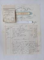 VESOUL (70): Facture 1900 (avec Son Mandat) Epicerie Fine - Rue Carnot - TISSOT - France