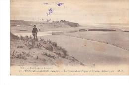B  40  -  CPA  De  CONTIS  Les  BAINS  -  Le  Courant  ,  La  Digue  Et  L ´ Océan  Atlantique - Francia
