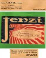 """OTTICO """"JENZI"""" MILANO - BUSTA PUBBLICITARIA  PORTA FOTOGRAFIE - ALL'INTERNO PUBBLICITA' PELLICOLE E LASTRE GEVAERT - 193 - Pubblicitari"""