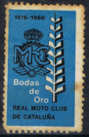 Viñeta BARCELONA 1966, Real Moto Club De Cataluña º - Errors & Oddities