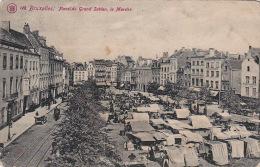 Bruxelles 824: Place Du Grand Sablon, Le Marché 1910 - Marchés