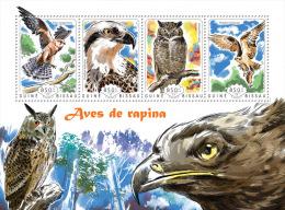 gb14610a Guinea Bissau 2014 Birds of prey s/s Eagle Owl