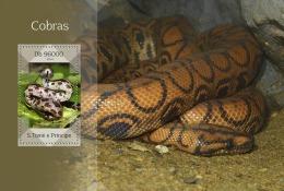 st14415b S.Tome Principe 2014 Snake s/s