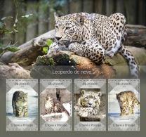 st14416a S.Tome Principe 2014 Snow leopard s/s