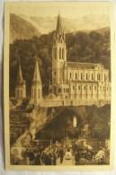 Cpa Cpsm LOURDES La Grotte Et La Basilique 2 Scans Postcard Ancienne Carte Postale - Lourdes