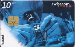 Telefoonkaart - Zwitserland. Swiss Telecom. Taxcard. CHF 10. Endkontrolle. foto: Rolf Neeser