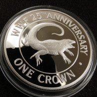 Turks Caicos 1 Crown 1988 Lizard Silver Proof - Turks & Caicos (Inseln)