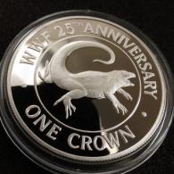 Turks Caicos 1 Crown 1988 Lizard Silver Proof - Turks And Caicos Islands