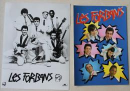 Photo + Carte Postale Dédicassée Du Groupe LES FORBANS.voir Les 2 Photos. - Autographes
