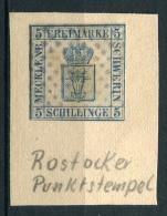 27344) MECKLENBURG-SCHWERIN # 3 Rocker Punktstempel Aus 1856, 340.- € - Mecklenburg-Schwerin