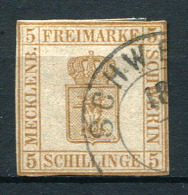 27348) MECKLENBURG-SCHWERIN # 8 gestempelt aus 1864, 200.- �