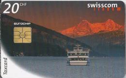 Telefoonkaart - Zwitserland. Swiss Telecom. Taxcard. CHF 20. Was die Schweiz verbindet. foto: Michel Jaussi.
