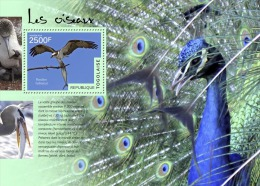 tg14502b Togo 2014 Birds s/s Eagle Fish Peacock