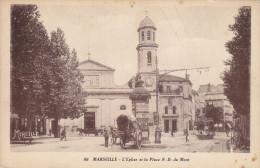 Marseille Eglise Et Place Notre Dame Du Mont - Unclassified