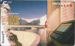Telefoonkaart - Zwitserland. Swiss Telecom. Taxcard. CHF 5. Staumauer Emosson.