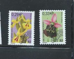 OA 6067 / FRANCE 2002 - Yvert Pré-oblitérés 244 à 245 ** - Orchidées I - Préoblitérés