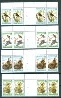 Virgin Islands 520-23 Audubon Birth Centenary Birds Fauna Sparrow Oigeon Chat Kestrel Gutter Strips 4 MNH 1985  A04s - British Virgin Islands