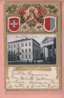 OUDE POSTKAART ZWITSERLAND SCHWEIZ  SUISSE  SVIZZERA RELIEF PRAEGE EMBOSSED CHIASSO SCHOOL SCUOLE 1902