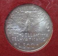 (J) VATICAN CITY: Silver 500 Lire Sede Vacante 1978 BU (3502)  SALE!!!! - Vaticano (Ciudad Del)