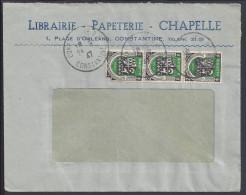 """ALGERIE - 1947 -  """"LIBRAIRIE - PAPETERIE - CHAPELLE"""" -  ENVELOPPE A FENETRE DE CONSTANTINE - - Algérie (1924-1962)"""