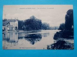 Cpa 10 NOGENT SUR SEINE Vue Sur La Seine LA PASSERELLE - Nogent-sur-Seine