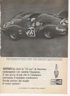 1967 - Candele CHAMPION (Lorenzo Bandini Chris Amon / Ferrari / 24 Ore Daytona) - 1 P. Pubblicità Cm.13,5 X18,5 - Corse Di Auto