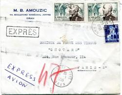 Lettre Exprès D'Algérie - Cad ORAN 25 Janvier 1951 - R 1399 - Algeria (1924-1962)