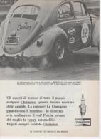1967 - Candele CHAMPION (Volkswagen) - 1 P. Pubblicità Cm.13,5 X18,5 - Corse Di Auto