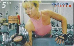 Telefoonkaart - Zwitserland. Swiss Telecom. Taxcard. CHF 5. Fitnessclub, Bern. - foto: Julian Salinas.