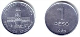 ARGENTINA - 1 Peso 1984 - KM#91 aUnc - Argentina