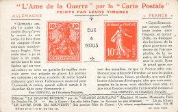 MILITARIA //  L AME DE LA GUERRE Par La CARTE POSTALE, Peints Par Leurs Timbres  ALLEMAGNE / FRANCE - Autres