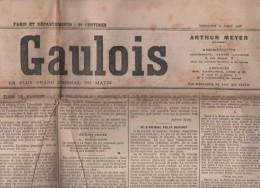 LE GAULOIS 09 08 1907 - REYNES MONLAUR - GRANDES FEERIES - SAINT CYR CAMP DE CHALONS - CASABLANCA - PONTS DE CE - NANCY - Informations Générales