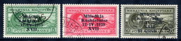 ALBANIA 1939 Union With Italy Airmail Overprints Used.  Michel 295-97 - Albania