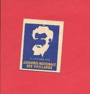 Journée Nationale Des Vieillards 1956. Insigne Carton. - Erinnophilie