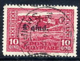 ALBANIA 1924 Red Cross I   10 Q. Used.  Michel 97 - Albania
