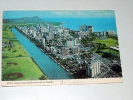 Carte Postale Ancienne : HONOLULU : Aerial View , Hotel, Business And Residential Area Of WAIKIKI - Honolulu
