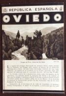 SPAGNA - REPUBLICA ESPANOLA - OVIEDO - PIEGO PUBBLICITARIO CON FOTO DìEPOCA - Pubblicitari