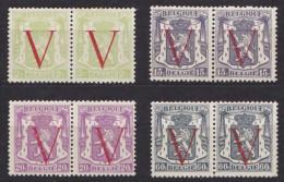 BELGIQUE/BELGIE/BELGIUM/BELGIEN- 1944 Nrs 670....673 - 4 Waarden  OCCASIE- POSTFRIS ** - Belgique