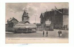 CALVADOS: COURSEULLES: La Place De CAEN Et L'Hôtel De PARIS ( Gustave CIRON) - Courseulles-sur-Mer