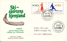 Norway FDC 15-1-1975 MORGEDAL The Birthplace Of Modern Skiing With Cachet Sent To Sweden - FDC