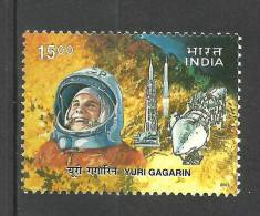 INDIA, 2001, Yuri Gagarin, 40th Anniversary Of Man´s First Space Flight,   MNH, (**) - India