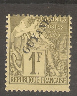 Guyane Française _ Colonies- 1F Vert (signé)